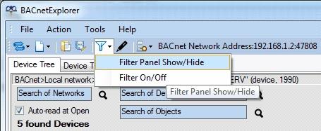 Filter Panel